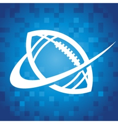 Swoosh American Football Icon vector image vector image