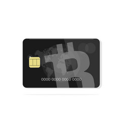 concept of a bank card bitcoin vector image vector image