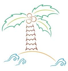 Palm at island vector image vector image