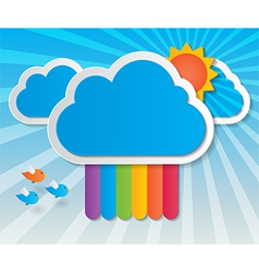 rainbow sky background vector image vector image