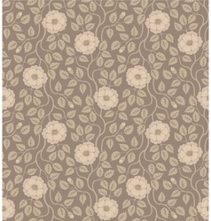 Seamless floral background with flowers and leaves vector image vector image