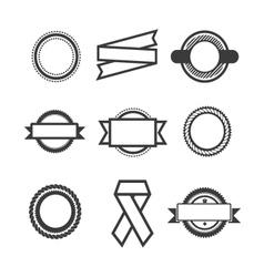 Set of logos vector image vector image