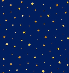 stars golden seamless pattern vector image vector image