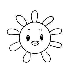 funny sun coloring book vector image