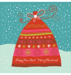 gift bag card vector image