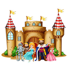 king and queen at the castle vector image
