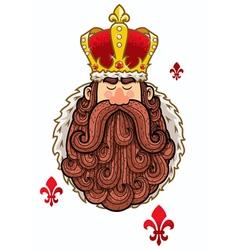 King Portrait vector image vector image
