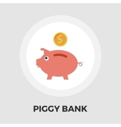 Piggy bank icon flat vector image vector image