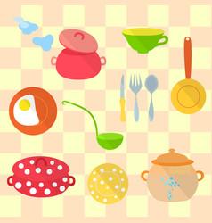 set of kitchen utensil vector image vector image
