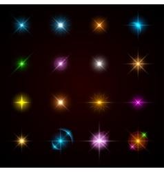 sparkling stars vector image