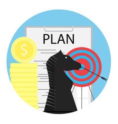 tactics financial planning vector image