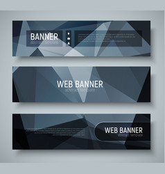 template banners with transparent design elements vector image vector image