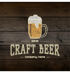 Craft beer badges logos and labels for any use vector image