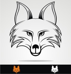 Fox Head vector image vector image