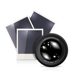 lens with photo frame vector image vector image