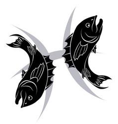 pisces zodiac horoscope astrology sign vector image vector image