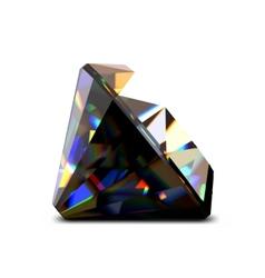 Shiny and bright black diamond vector image