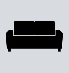 sofa isolated on white vector image vector image