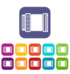 accordion icons set vector image