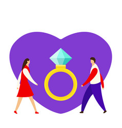 an offer of marriage man proposes a woman to vector image
