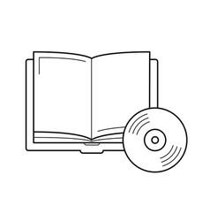 Audiobook line icon vector