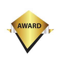 Award label design gold silver vector