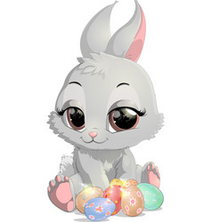 beautiful easter rabbit vector image