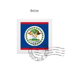 Belize Flag Postage Stamp vector image