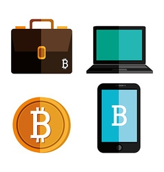 Bitcoins design vector