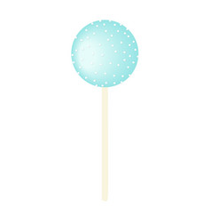 Blue sweet bubble round candy - lollipop isolated vector