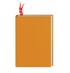 Book with blank cover realistic vector