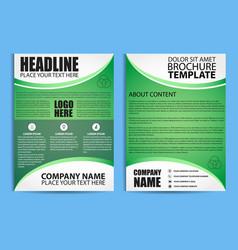 brochure design flyer template vector image