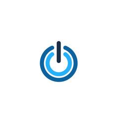 button power logo icon design vector image