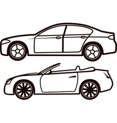 Car collection vector image