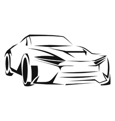 Car silhouette line icon vector