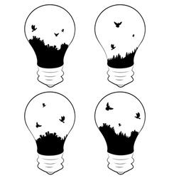 City in a Lightbulb vector image