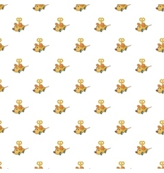 Clockwork mouse pattern cartoon style vector
