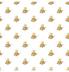 Clockwork mouse pattern cartoon style vector