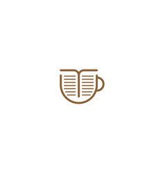 Coffee book graphic design template simple vector