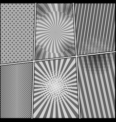 Comic book monochrome composition vector