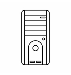 Computer system unit icon outline style vector