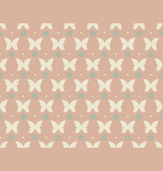 cute pattern with butterflies and flowers vector image