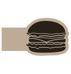 Dark contour humburger icon vector