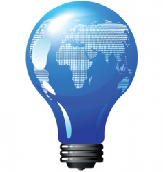 environmental concept light bulb globe vector image