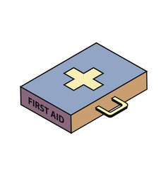 First-aid isometry icon vector