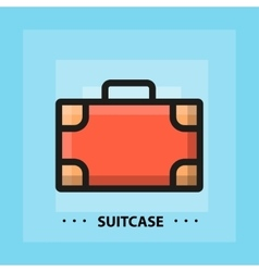 flat suitcase icon vector image