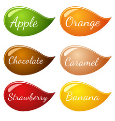 Flavor icon set for label vector