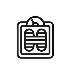 floor scales icon on white background vector image