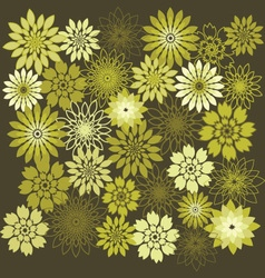 flower design elements background vector image