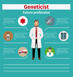 future profession geneticist infographic vector image